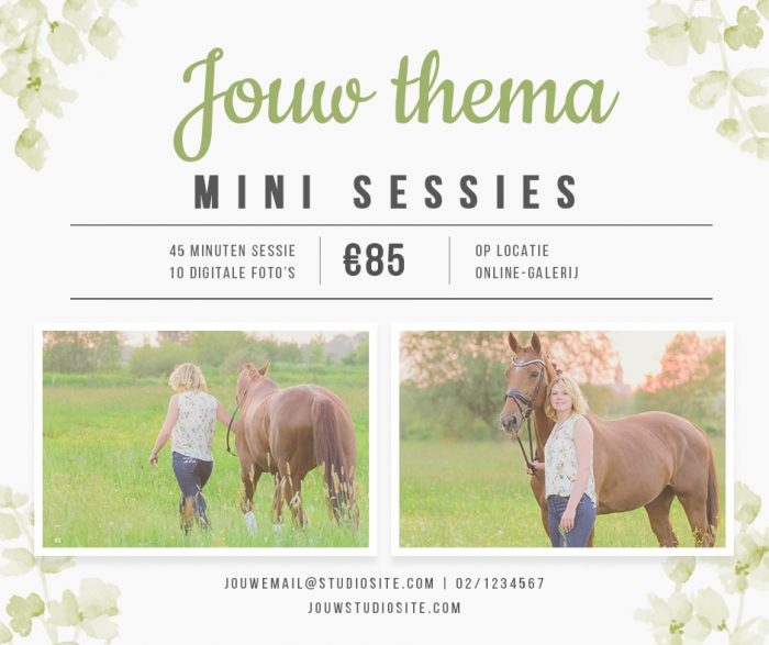 Mini sessie sjabloon | Facebook