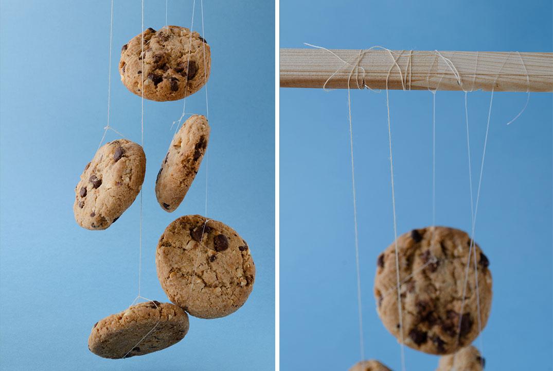 Zwevende koekjes foto's
